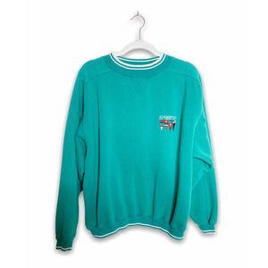 Vintage Norwegian Cruise Line Teal Sweatshirt S/M